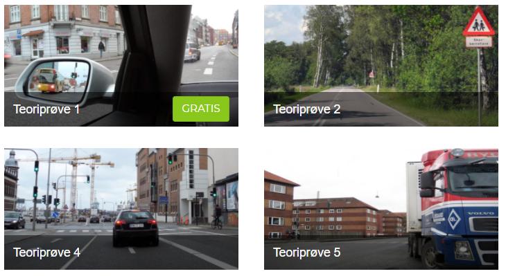 Der er 11 teoriprøver på Kørekortportalen